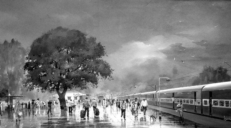रेल की रात
