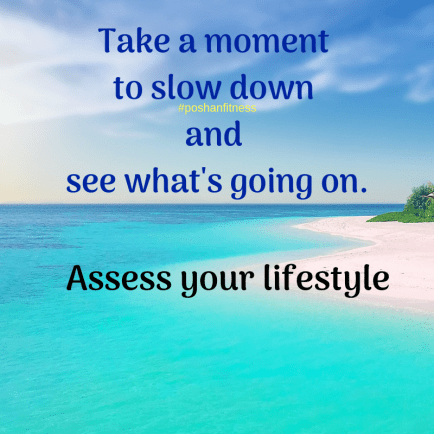 Take a moment to slow down and see what's going on.