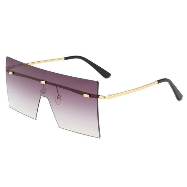 Colorful Big Rimless Sunglasses