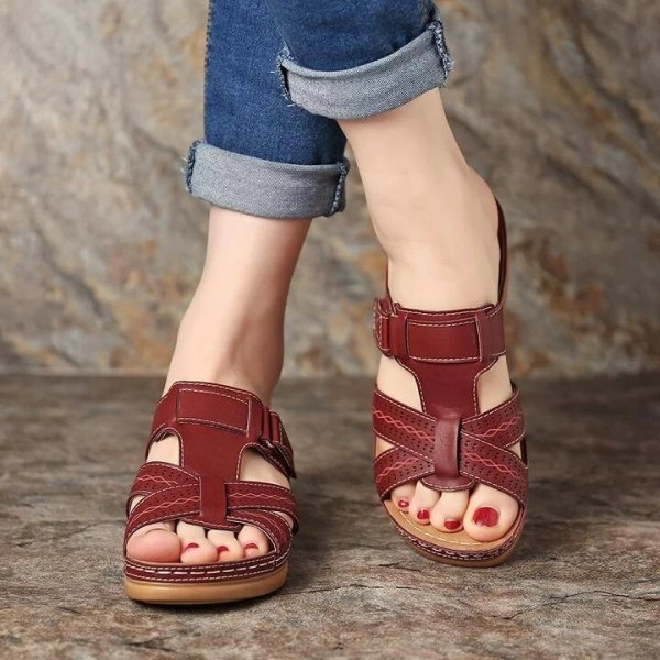 Women's Summer Open Toe Comfy Sandals Soft Premium Orthopedic Low Heels Walking Sandals Drop Shipping Toe Corrector Cusion 2020