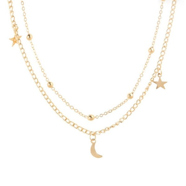 Moon & Star Necklace Pendant Charms