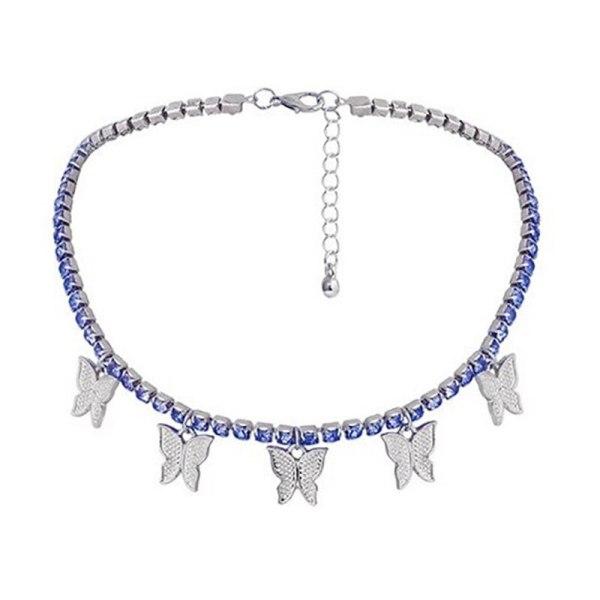 Cute Butterfly Choker Necklace