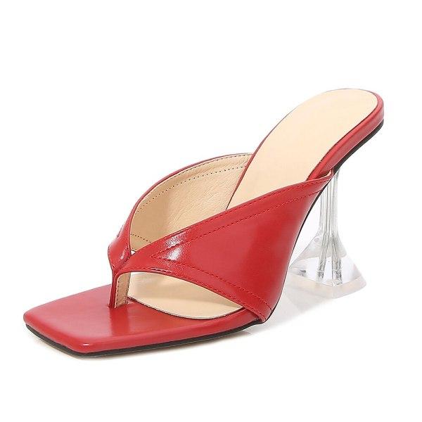Crystal High Heels Mules Sandals