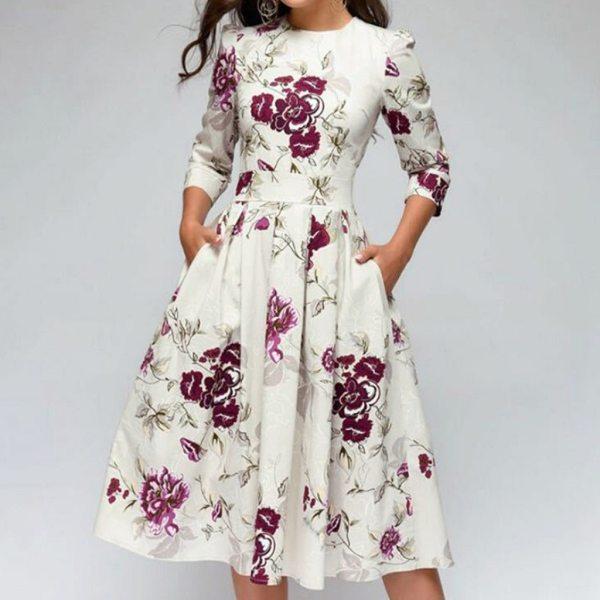 Vintage Half Sleeve Dress