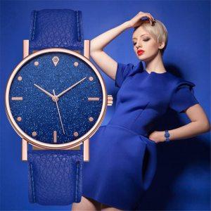 Relogio Luxury Women Watches Romantic Starry Sky Round Glass Quartz Analog watches Female Gift Elegant Wrist Watch montre femme