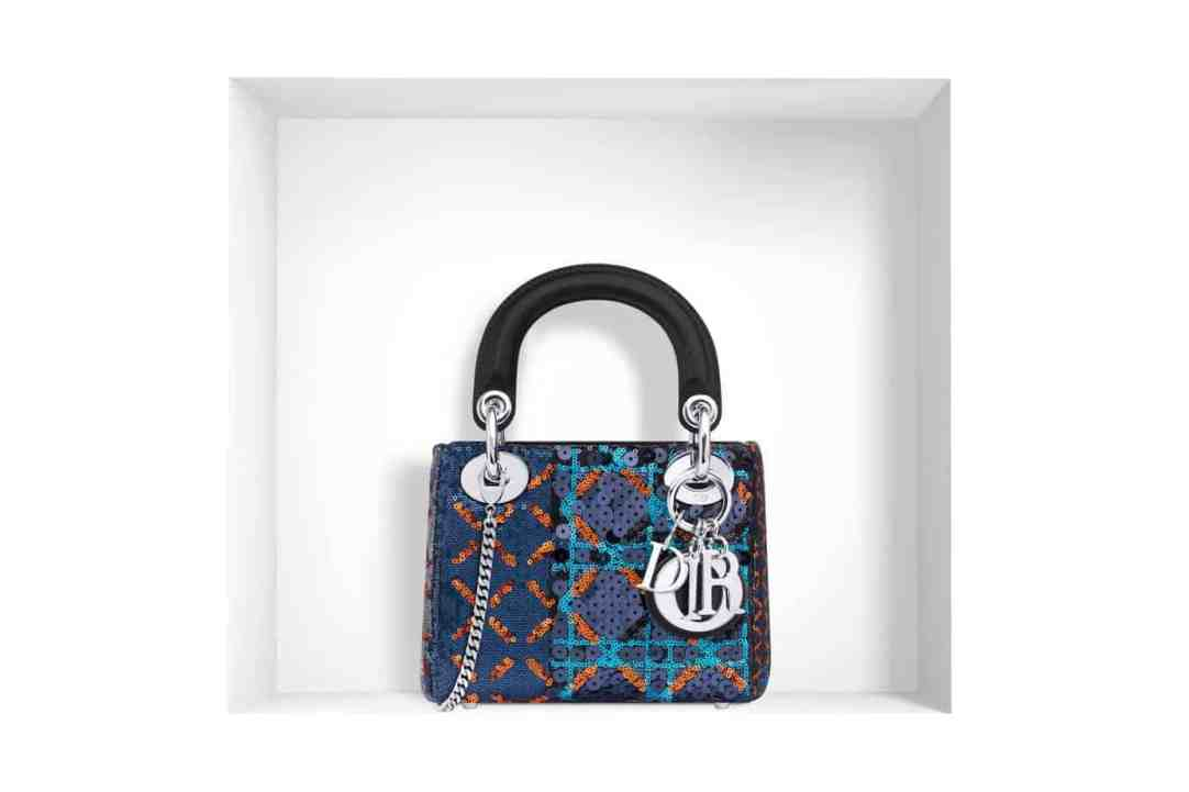 "MINI ""LADY DIOR"" BAG SEQUINNED JACQUARD"