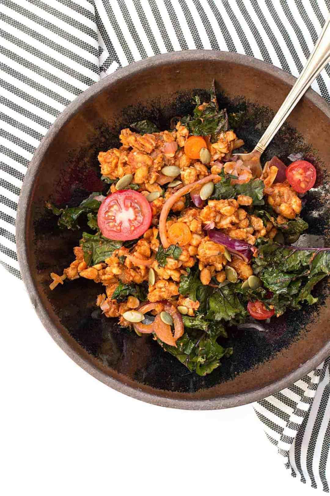 stir-fry-tempeh-kale-tomato-sauce