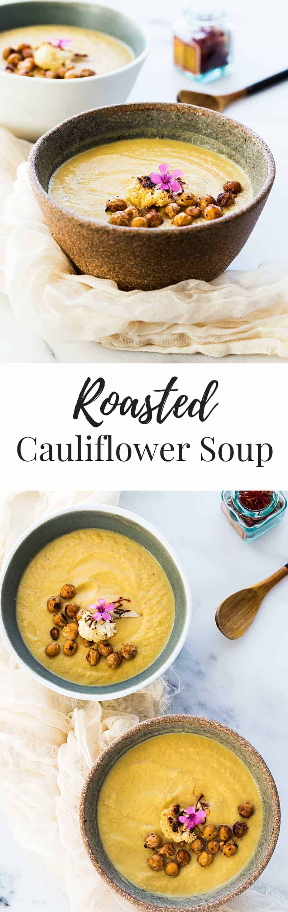 roasted cauliflower soup with saffron