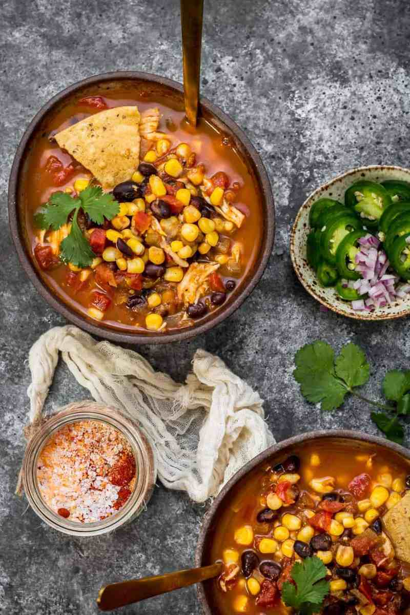 Slow Cooker Chicken Taco Soup, Hearty Comfort Food
