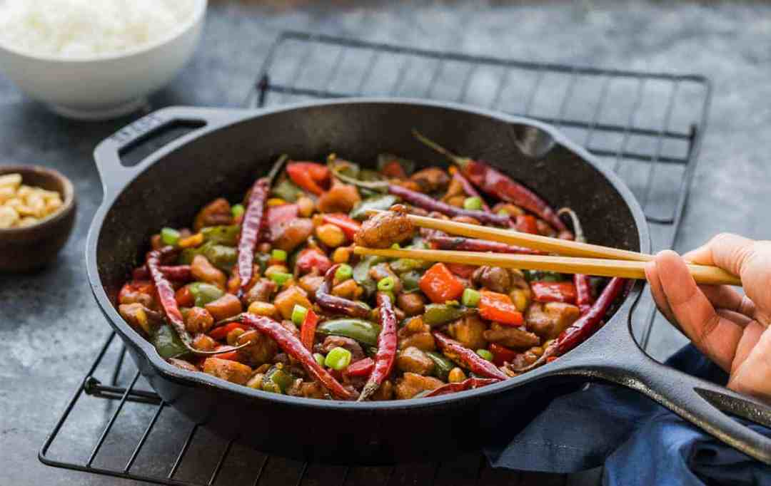 easy kung pao chicken recipe chinese food, better than take out