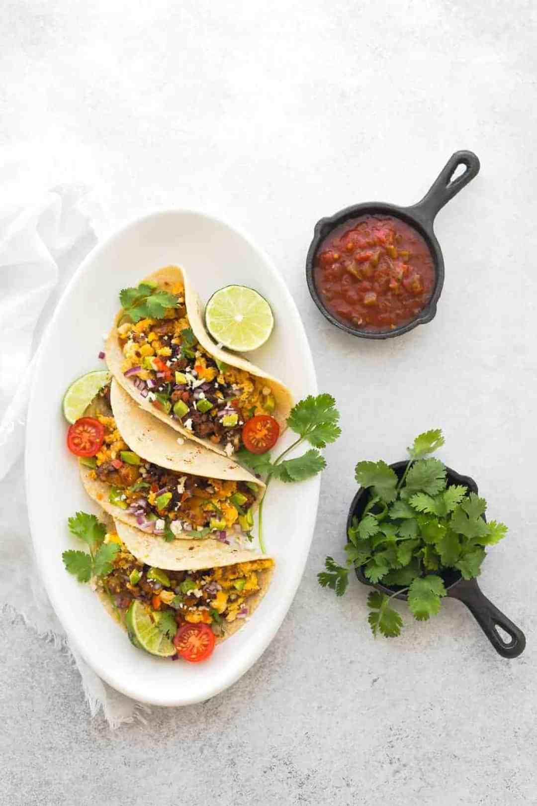 chorizo egg tacos easy breakfast recipes