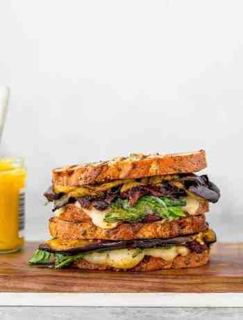 Eggplant Panini Balsamic Sun-Dried Tomatoes Lunch Ideas