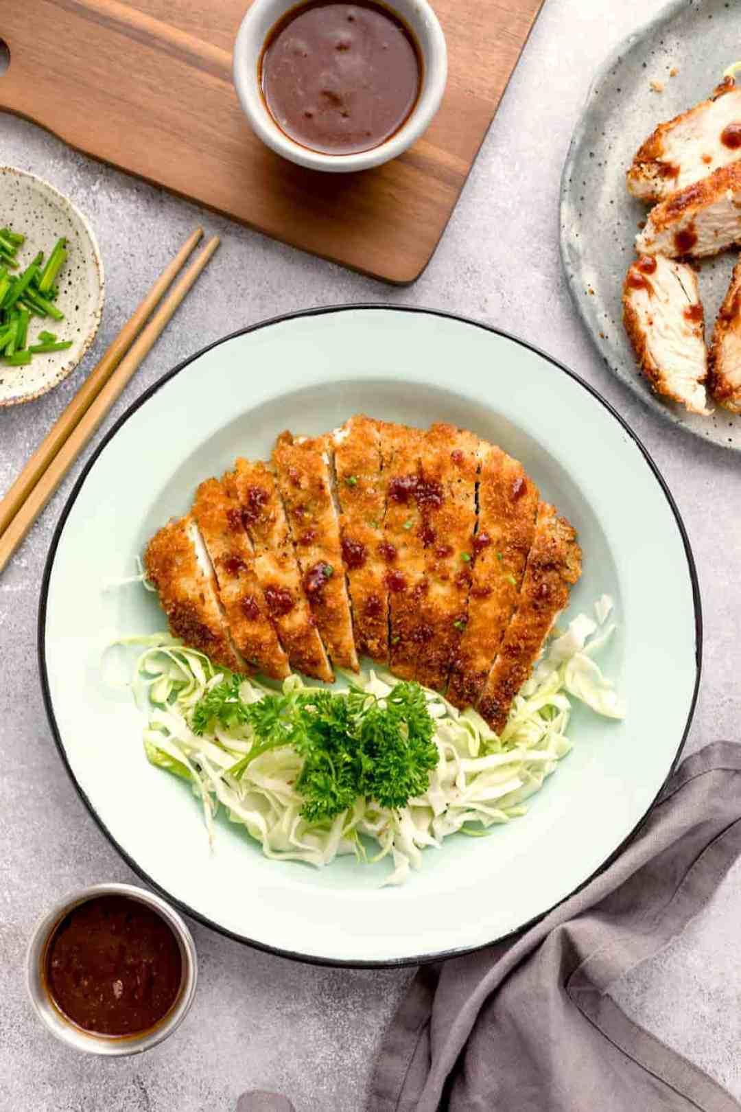 panko breaded chicken Katsu Japanese recipes