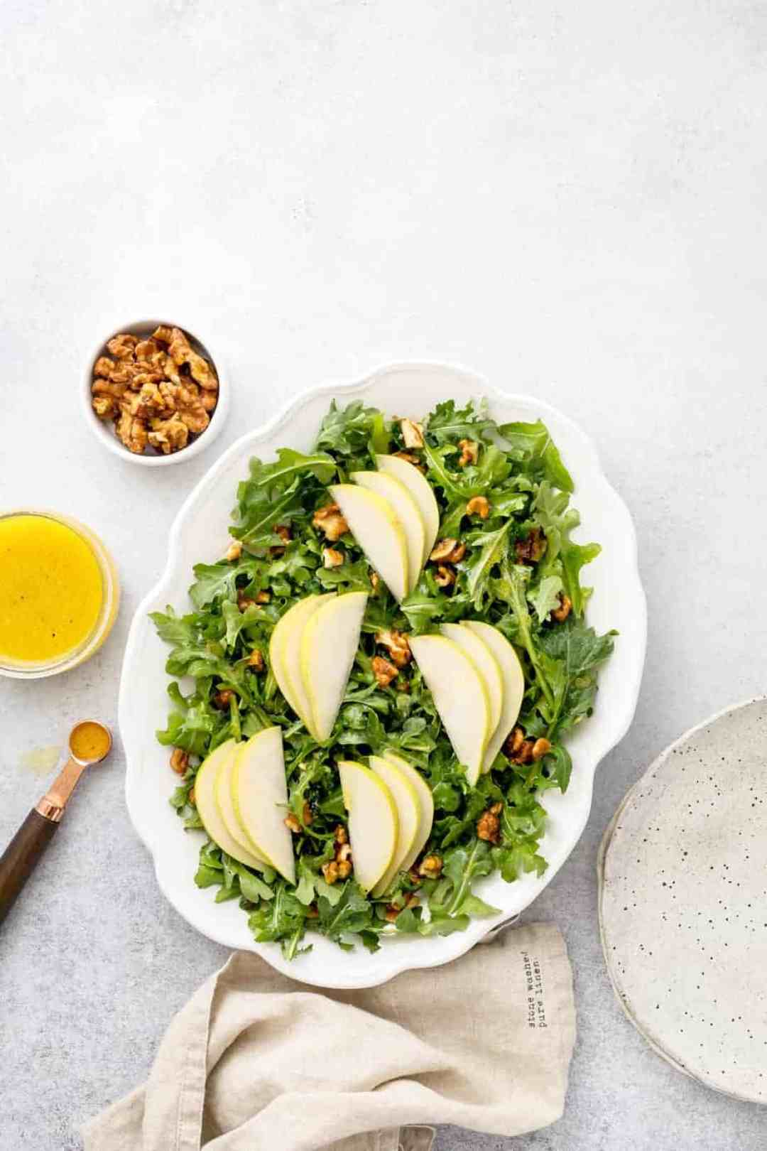 pear arugula salad lemon dressing