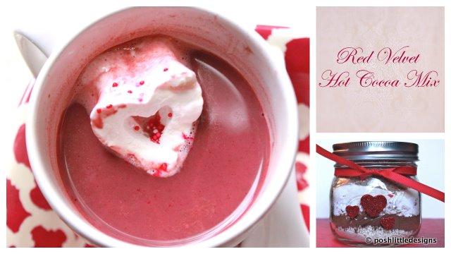 an easy diy recipe for red velvet hot cocoa mix that tastes just like red velvet cake