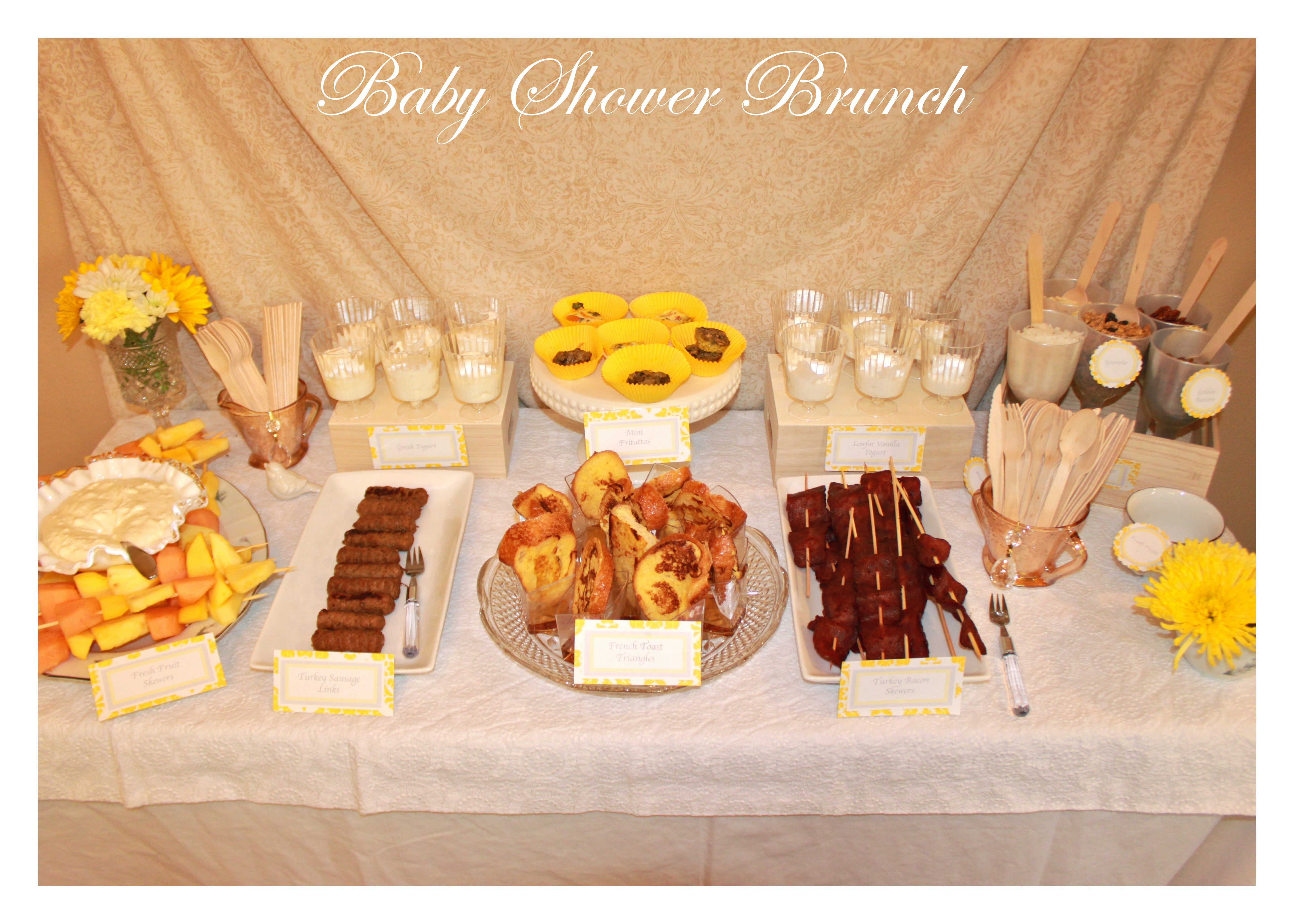 Real Parties Vintage Glam Baby Shower Yellow & Gray posh