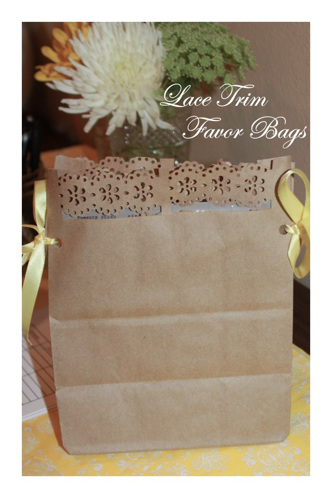 DIY: Lace Trim Favor Bags