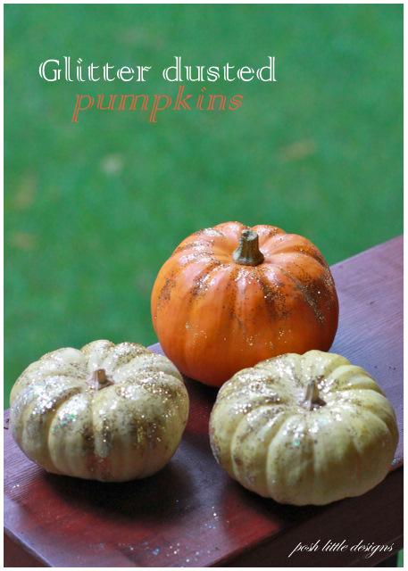 DIY – Glitter Dusted Pumpkins