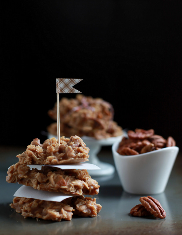 Make: Maple Pecan No-bakes (V)