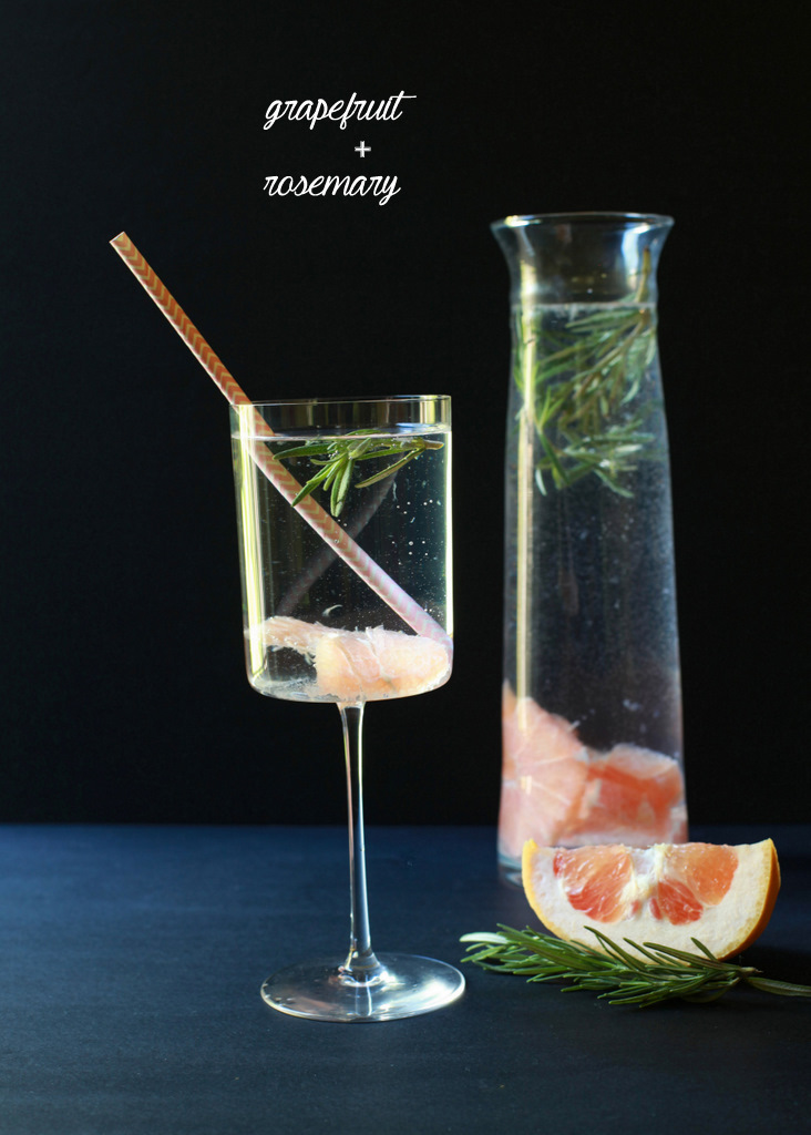 Grapefruit Rosemary Infused Water | Posh Little Designs