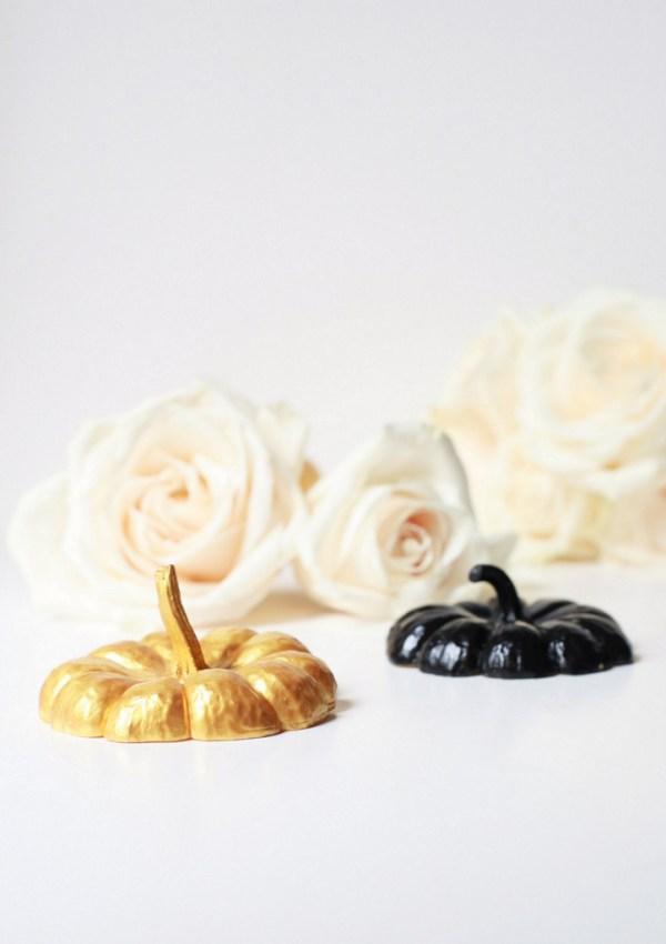 Painted Mini Pumpkin Centerpieces