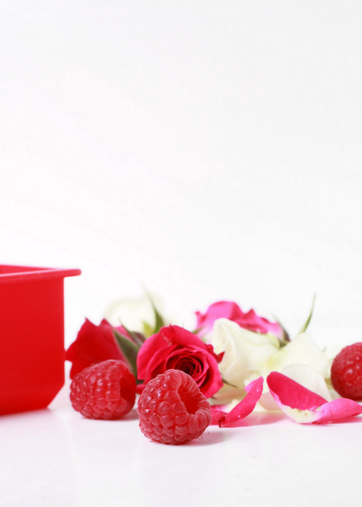 Raspberry Rose Ice Cubes