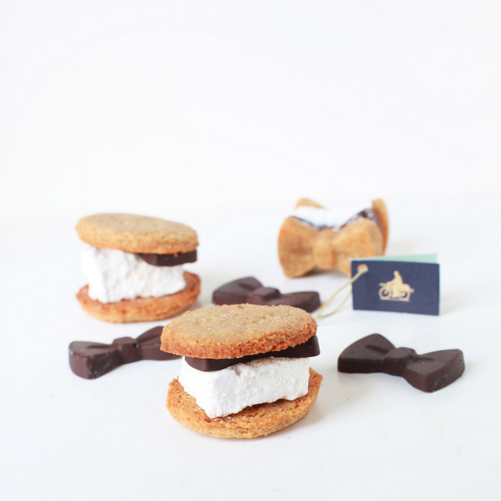 dark chocolate s'mores made with homemade Saint Germaine marshmallows - recipes -desserts
