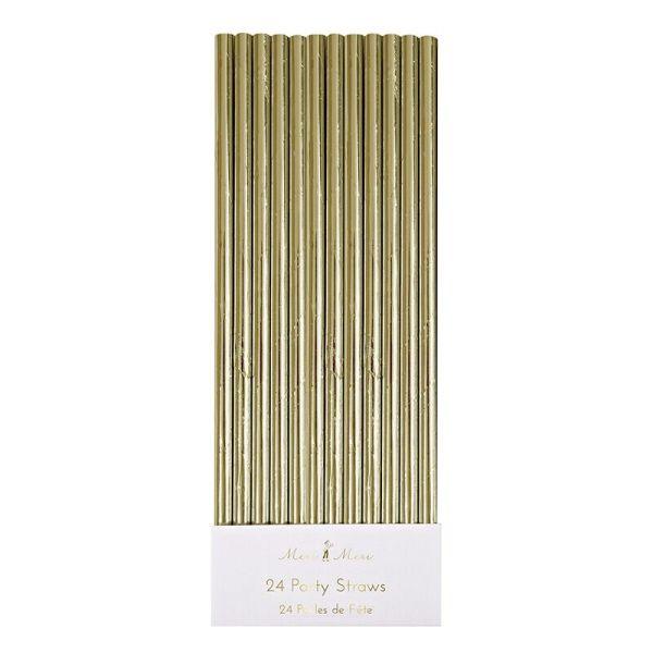 Gold Foil Party Straws