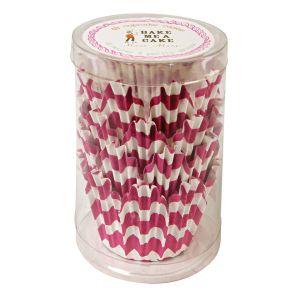 Chevron Pink Cupcake Liners - Meri Meri