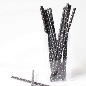 B&W Patch Paper Straws | Posh Little Designs