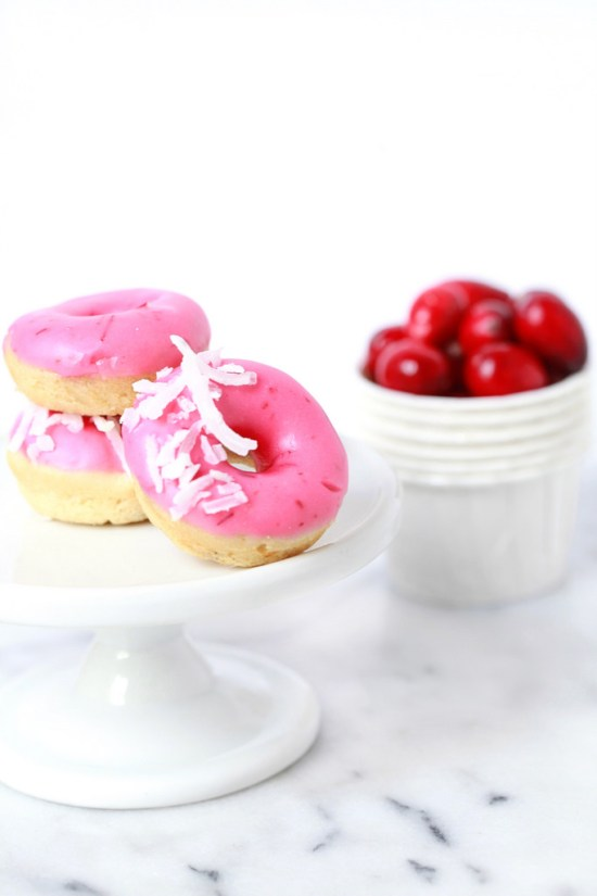 Cranberry & Coconut Mini Donuts | Posh Little Designs