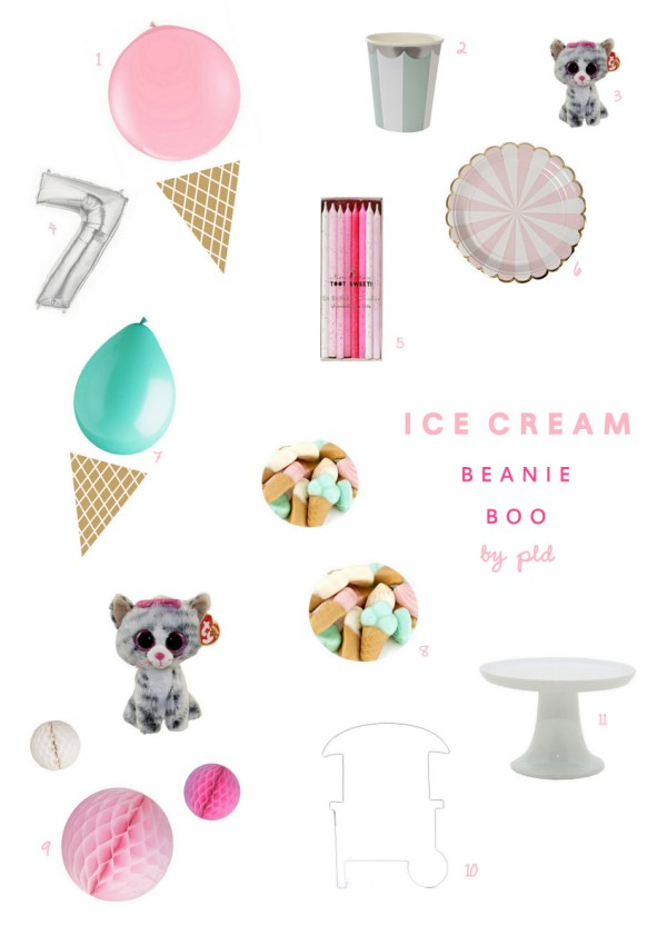Ice Cream Beanie Boo Party Inspiration