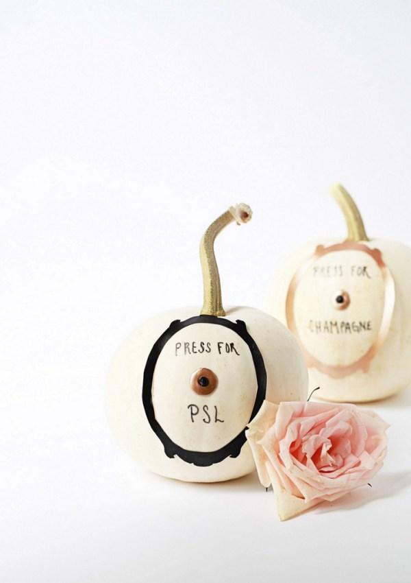 Press for Champagne & PSL Pumpkins DIY