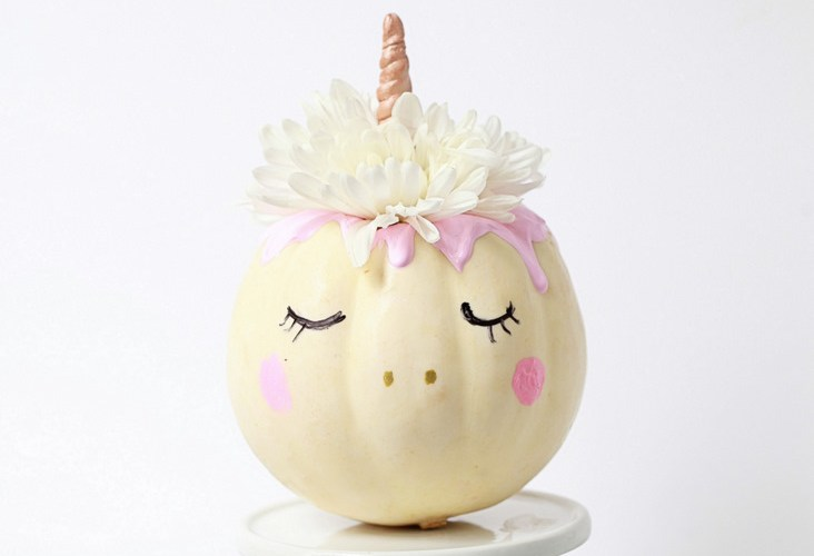 decorative unicorn pumpkins