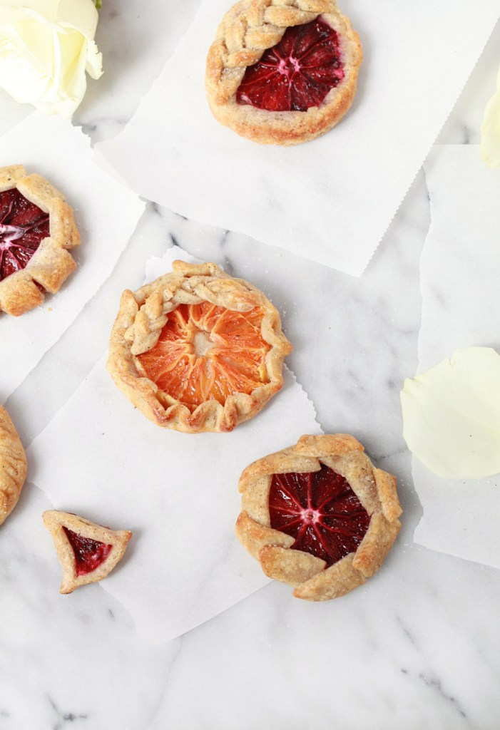 Mini Blood Orange Galettes
