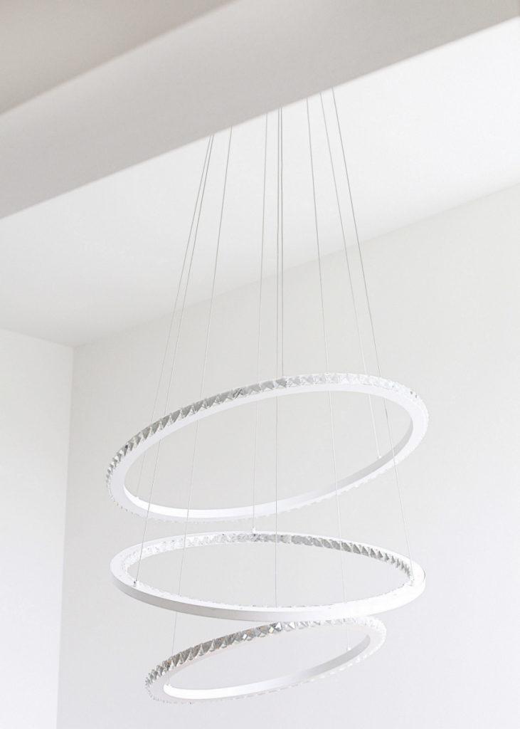 modern 3 light chandelier