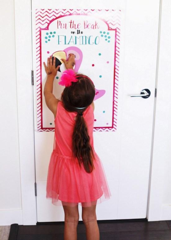 pin the beak on the flamingo