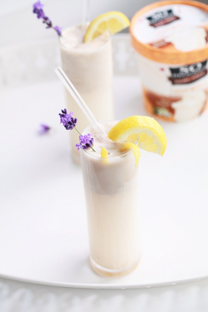 Lemon & Lavender Ice Cream Floats
