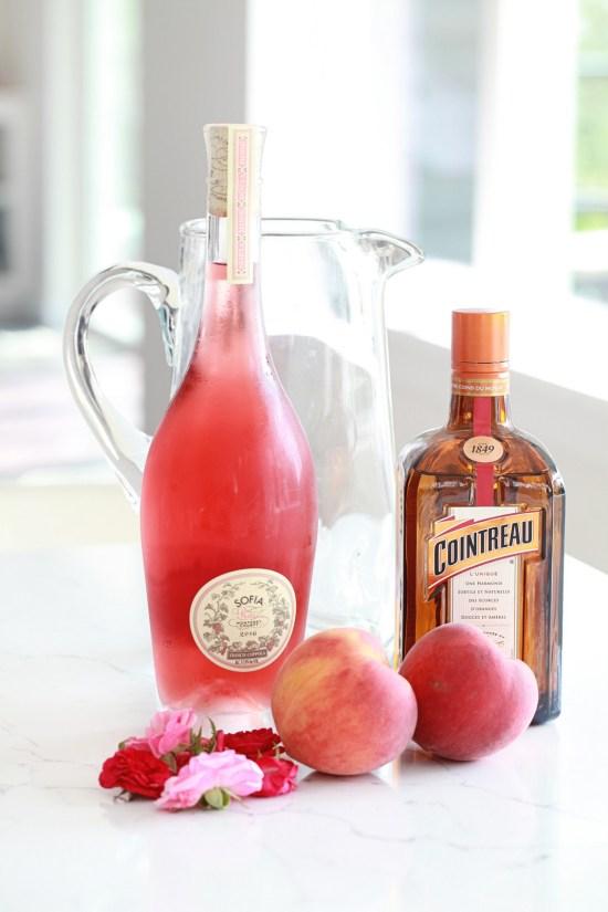 Summer beverages, rosé sangria