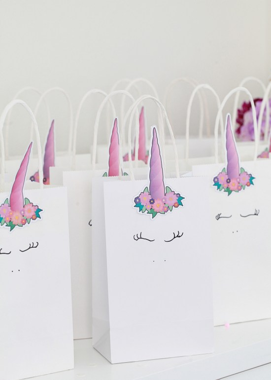 Unicorn Birthday, Party, Favor Bags