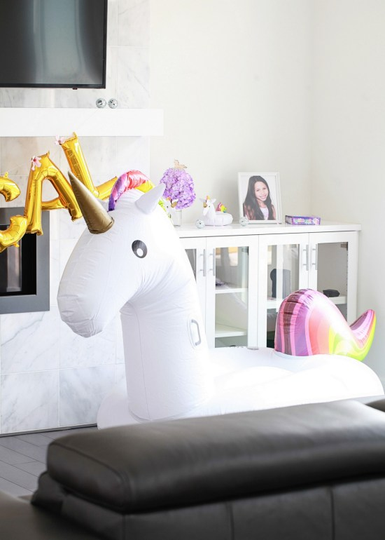 Additional Party Details Included One Giant Unicorn Float Festive Mylar Balloons From The Studio DIY Shop And Tons Of Confetti