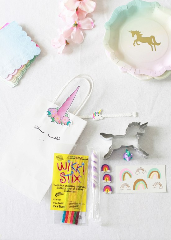 Unicorn Birthday, Party, Favors