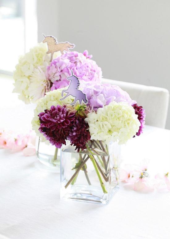 Unicorn Birthday, Party, Floral Arrangements