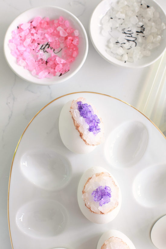 DIY Geode Easter Eggs, Crafts, Amethyst, Rose Quartz