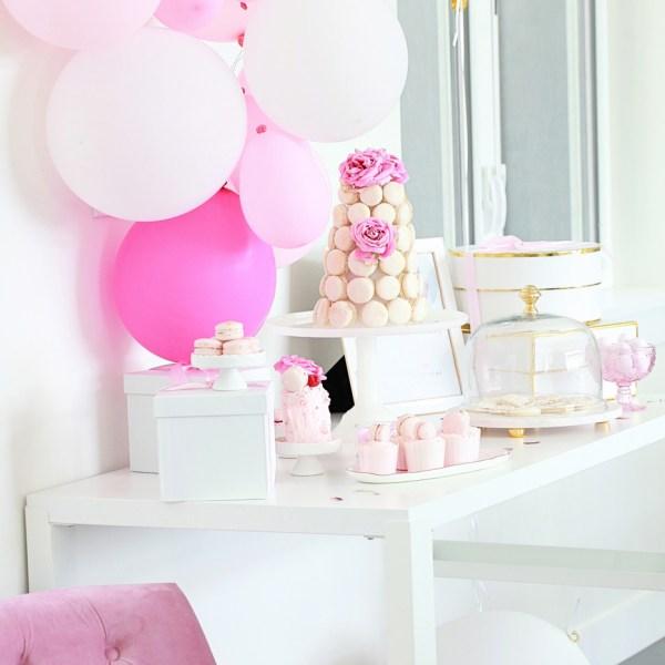 Macaron Birthday Party-Pink Parties- Children-Bottega Louis