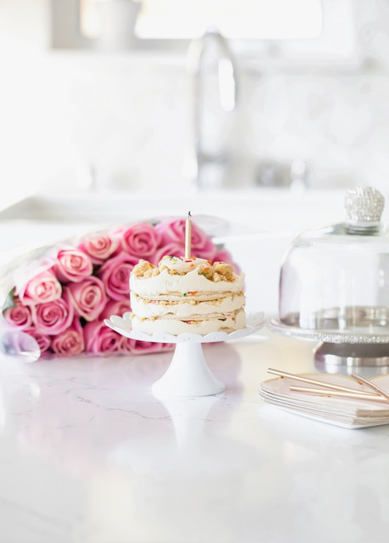 Momfuku Milk Bar Macaron Birthday cake | Posh Little Designs