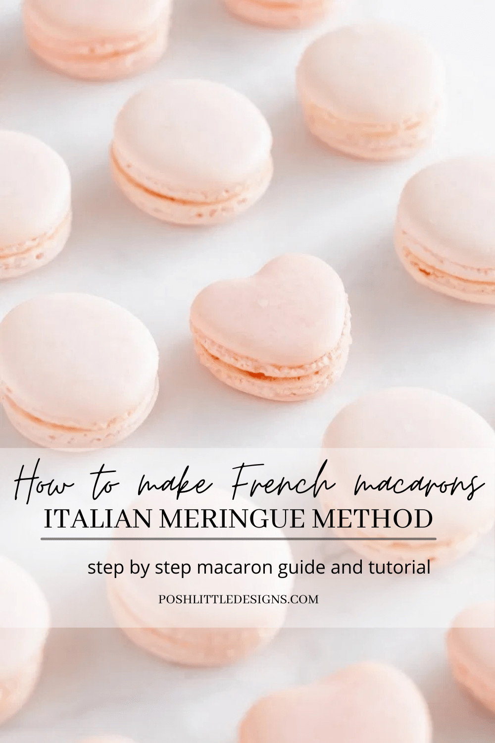 How to make French macarons using the Italian meringue method. Tips, and step by step tutorial.