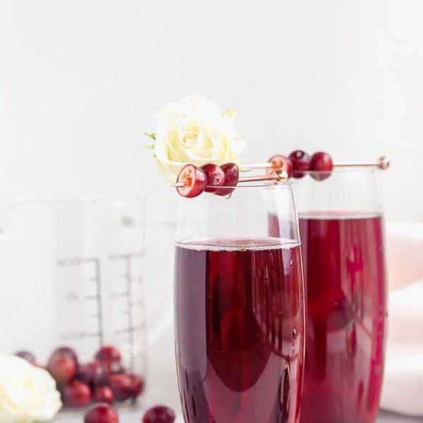 Cranberry Kir Royale | Posh Little Designs