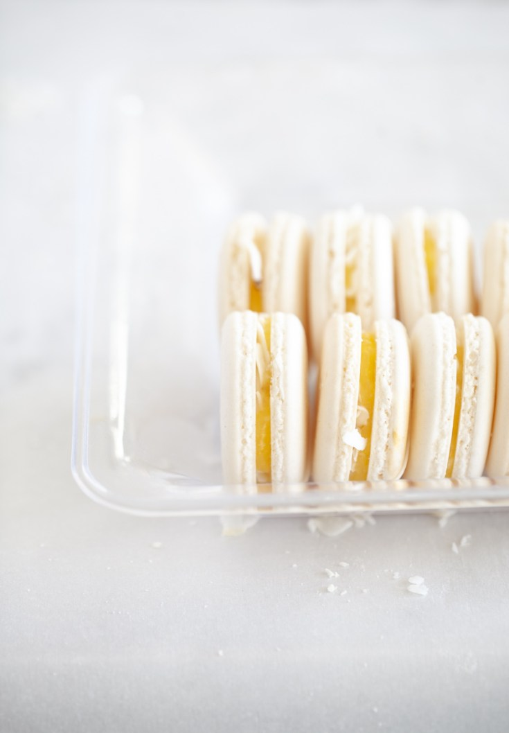 coconut and lemon curd French macaron recipe. French macarons - Posh little designs