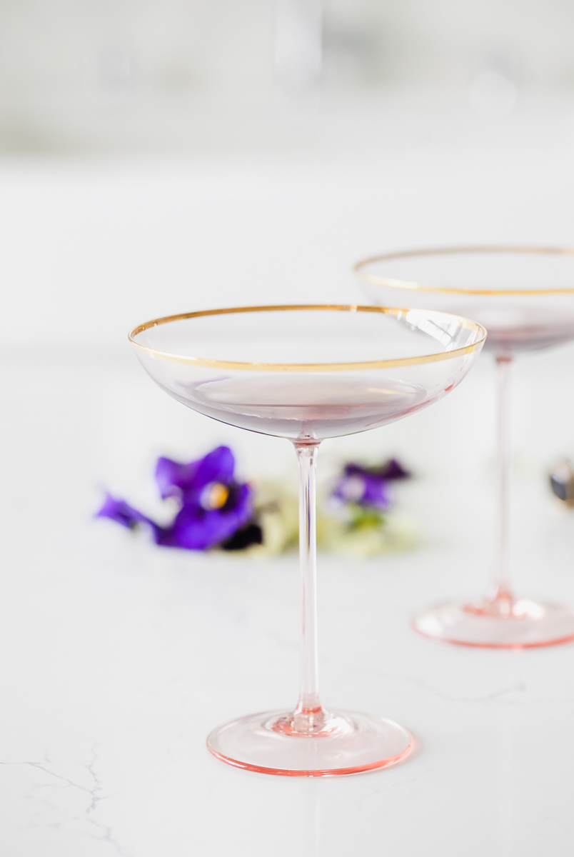 Champagne cocktails - French Cocktails- Creme de Violette - Recipes